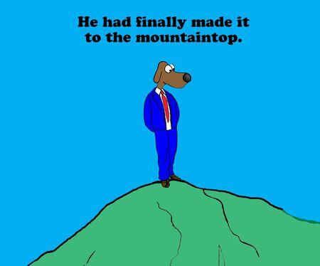 accomplish: Mountaintop