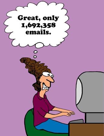 Email Overload Archivio Fotografico