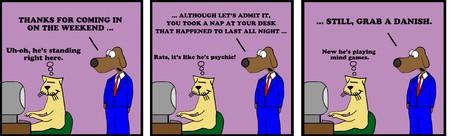 enemy: Weekend Worker Cartoon Strip