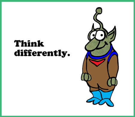differently: Think Differently Stock Photo