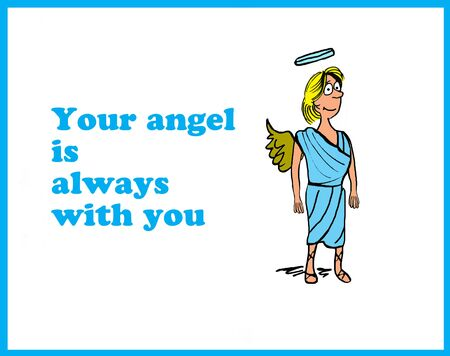 Ange With You Banque d'images - 56212502