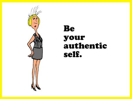 authentic: Authentic Self Stock Photo