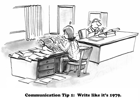 Cartoon about the lost art of letter writing.