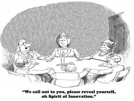 혁신 기회 증대에 관한 비즈니스 만화.