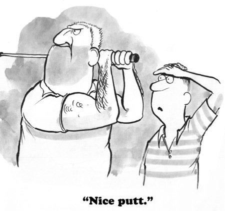 golfing: Golfing Cartoon Stock Photo