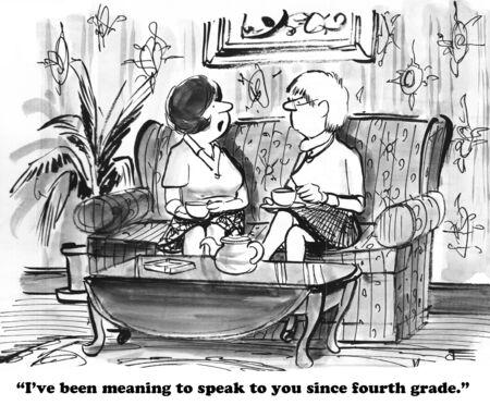 inward: Cartoon about an introvert.