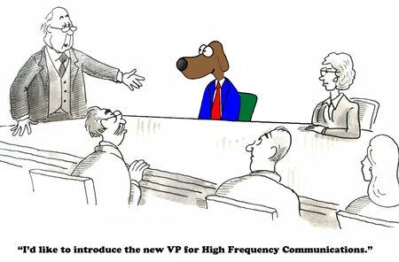 cartoons television: Communicator Stock Photo