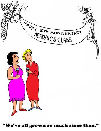 gag: Aerobics Stock Photo