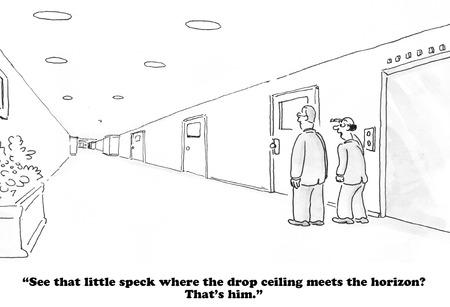 egocentric: Detached Boss Stock Photo
