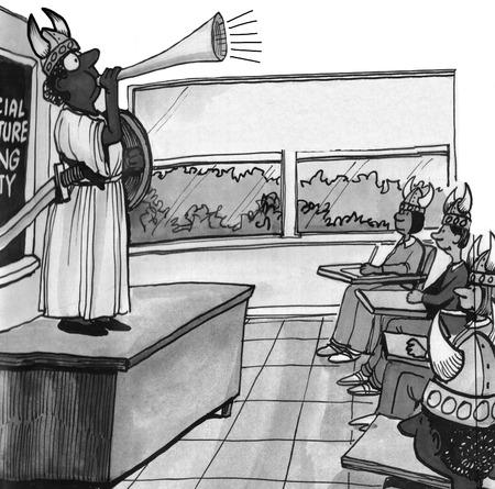 cartoon school girl: Making Learning Fun