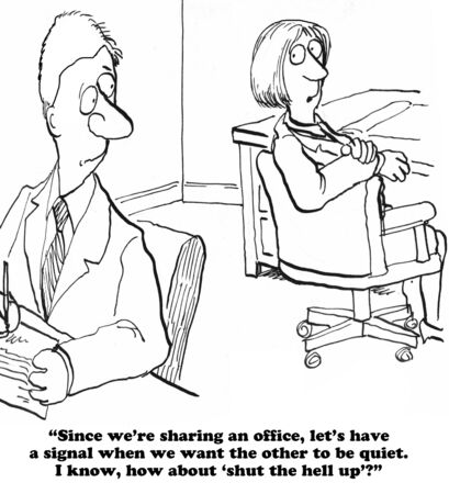 shut down: Noisy Office