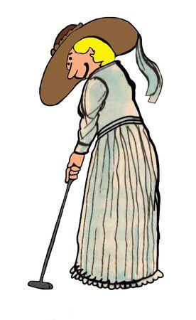 enjoyable: Victorian woman Stock Photo