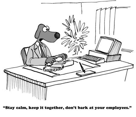 boss: Business cartoon about being a good leader.