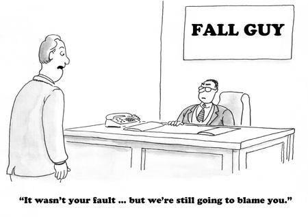 秋の男であることについてビジネス漫画。
