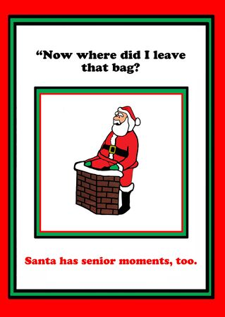 moment: Christmas cartoon about Santa Claus having a senior moment.