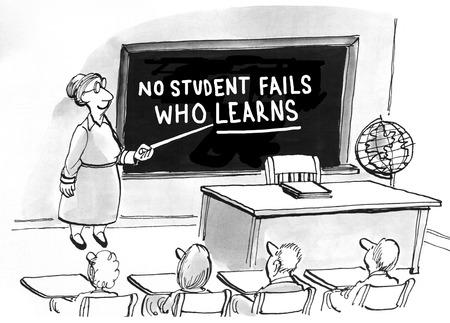 valor: Educación historieta sobre el valor del aprendizaje. Foto de archivo