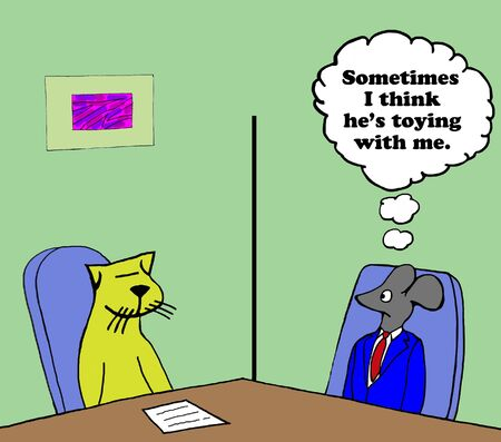 irritate: Business cartoon about a difficult coworker.
