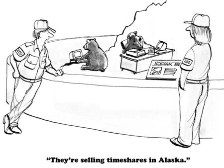 kodiak: Business cartoon about entrepreneurial behavior.