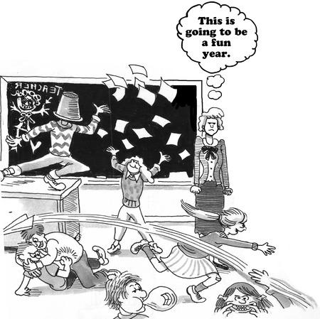 Chaotic Classroom Фото со стока
