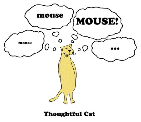 Thoughtful Cat Banco de Imagens - 60646869