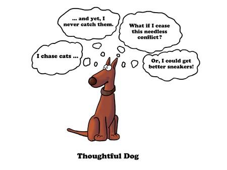 run faster: Thoughtful Dog Stock Photo