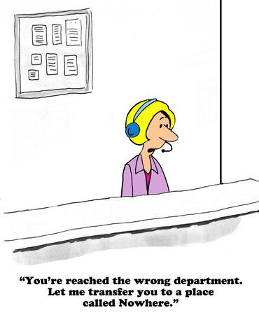 nowhere: Customer Service Stock Photo