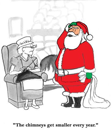 Kerstman en Schoorstenen