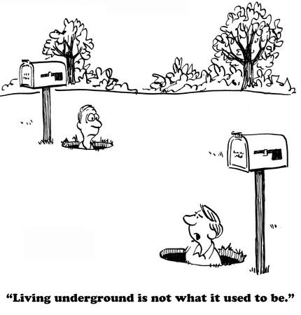 alone person: Living Underground