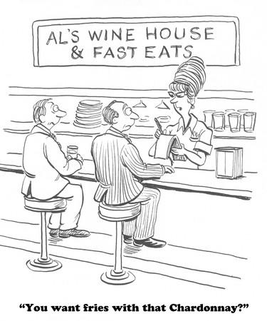 tomando vino: Vino fino