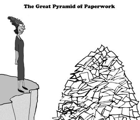 Piramide van Papierwerk Stockfoto