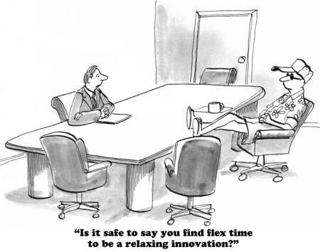 flexible business: Flex Time Stock Photo