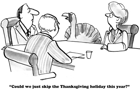 avoid: Cartoon about a turkey who wants to skip Thanksgiving.