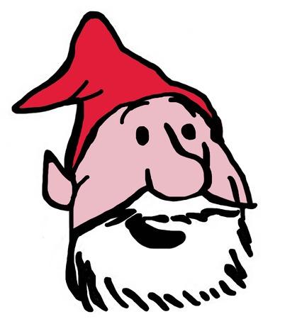 elfs: Color Christmas illustration of an elfs face.