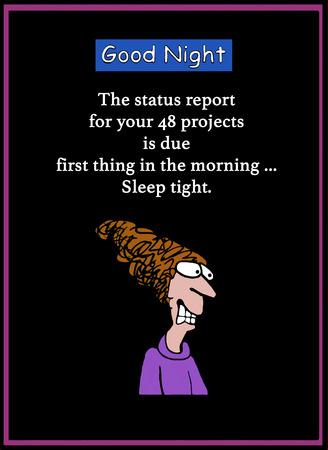 Sleep tight deadline Stock Photo