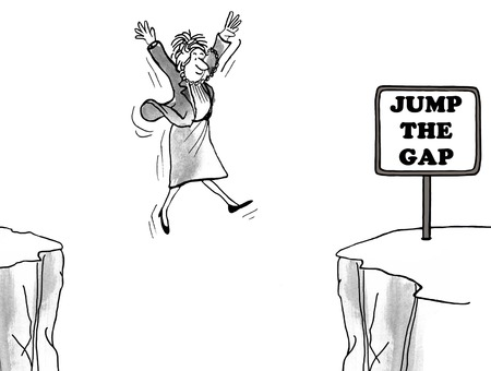 black woman: Jump the gap