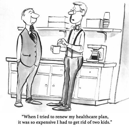 coworker: Medical cartoon about the high cost of healthcare.