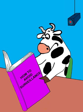 How to read, book held by cow.
