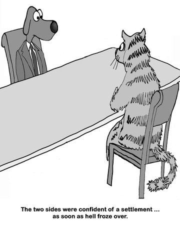 Cat and dog lawyers meet to settle case