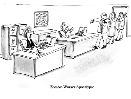 Flex time workers become zombies Banco de Imagens