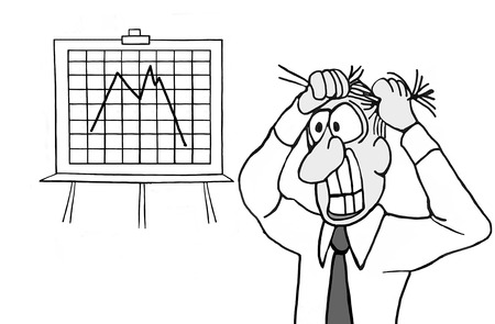 An executive is stressed out because his business is experiencing a downturn