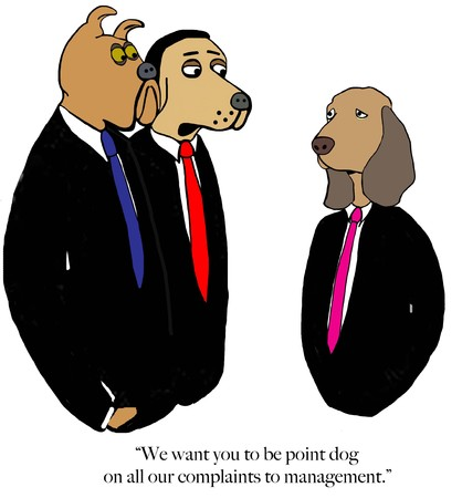 Three corporate dogs assign tasks Zdjęcie Seryjne