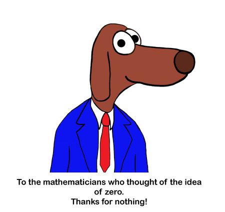 Dog professor gives thanks to mathematicians Stockfoto - 122004134