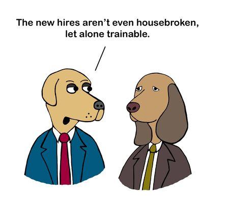 VP warns boss that new hires are not housebroken Zdjęcie Seryjne
