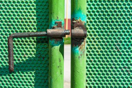 iron bolt on the gate Stock fotó