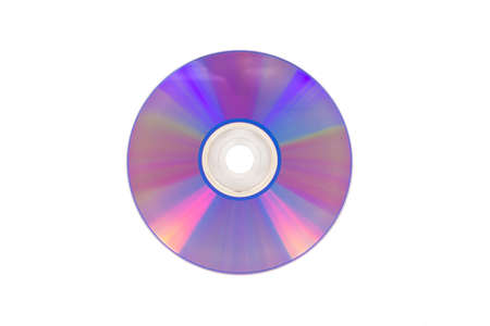 Laser CD, on white background, isolated.