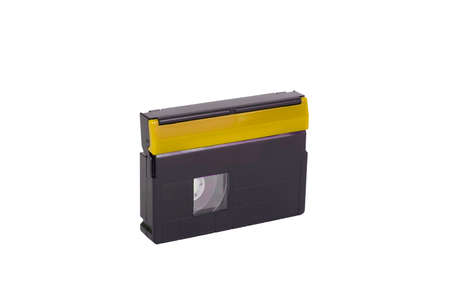 mini DV cassette, videotape, on white background, isolated.