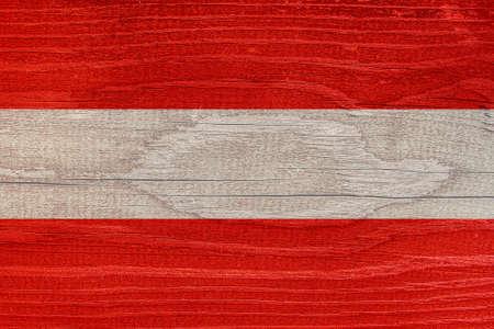 Austrian flag with wood texture. Flag of Austria on a wooden texture 免版税图像 - 150118884