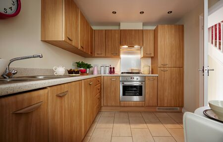 Shot of a modern and stylish luxury kitchen in an apartment