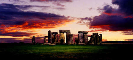Stonehenge at sunset photo