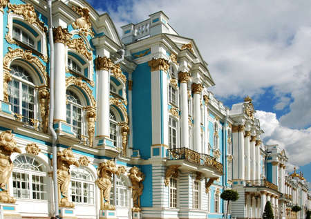 st petersburg: St.Cathrines palace,St. Petersburg,close up.